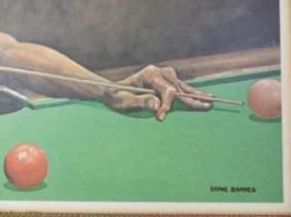 Ernie Barnes Vintage Original Print Jake Man Playing Pool Black