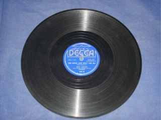 78rpm Decca Record Bing Crosby with Jimmy Dorsey ORCH