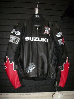 New Mens Genuine Suzuki GSXR Joe Rocket Leather Motorcycle Jacket