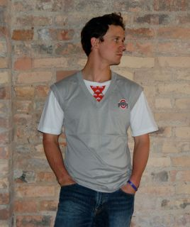 Ohio State Tressel Sweater Vest Shirt Men Women Costume
