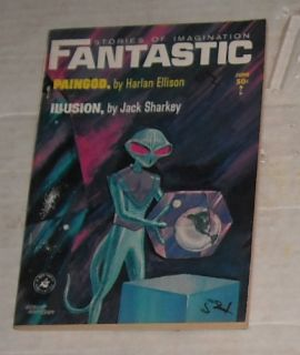 FANTASTIC SCIENCE FICTION DIGEST SIZED PULP MAGAZINE ELLISON BINDER