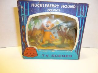 Vintage Huckleberry Hound MR JINKS TV Tinykins TV Scenes Boxed Marx