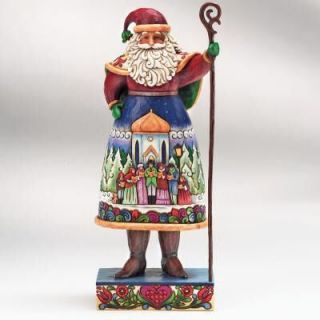 Jim Shore Heartwood Creek Santa with Carolers Scene New