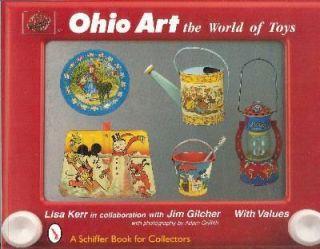 Ohio Art Tin Litho Toy Book Sand Pail Tea Set