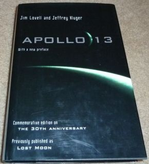 CAPTAIN JIM JAMES LOVELL AUTOGRAPHED SIGNED APOLLO 13 LOST MOON BOOK