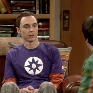 Sheldons Violet Lantern Big Bang Theory T Shirt
