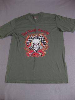 Joe Heck Racing Split Green Lucky Shirt Cafe Racer Tee Mens Tshirt New