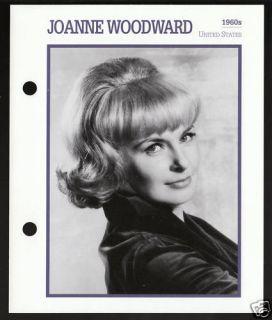 Joanne Woodward Atlas Movie Star Picture Biography Card