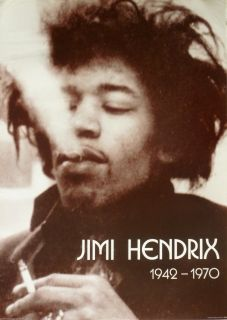 Jimi Hendrix Jimi Smoking 1942 1970 U K Commercial Poster Acid Rock
