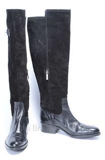 Circa Joan David 7 M Raah Tall Boot Knee High Black Suede Heel Shoe $