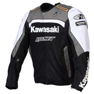 Joe Rocket Kawasaki Replica Jacket Gunmetal White Black Sz XL 821 8605