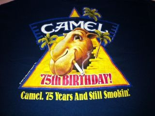 Joe Camel T Shirt 75th Anniversary New