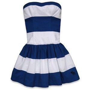 Abercrombie Fitch Womens Dress Joanna Blue White Size Medium