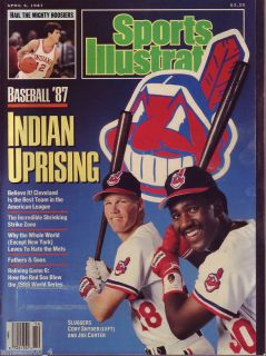 Sports Illustrated 1987 Indians Cory Snyder Joe Carter