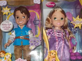 First Disney Princess Tangled RAPUNZEL & FLYNN RIDER 15 Toddler Dolls