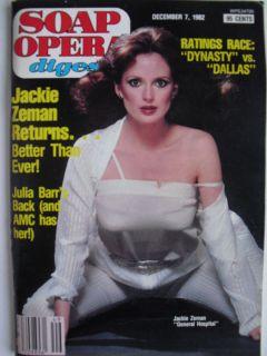 Dec 7 1982 Soap Opera Digest Joe Mascolo Julia Barr Pam Long