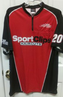 NASCAR Joe Gibbs Sportclips Race Used Pit Crew Shirt Denny Hamlin