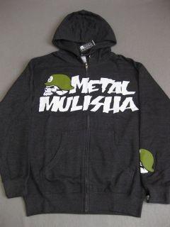 OG Icon Metal Mulisha Grey Hoodie Sweater Skull New Hooded Hoody Mens