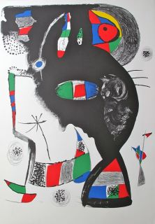 Joan Miro 1977 Lithograph 42 Rue Blomet Edition 1 100