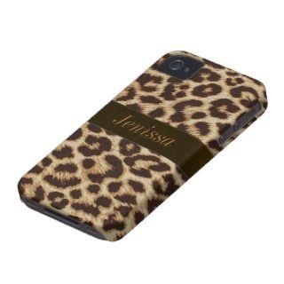 Custom Leopard Print iPhone 4/4S Case Mate Case iPhone 4 Case