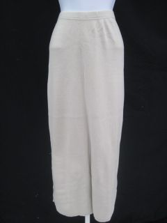 Joan Vass Beige Long Straight Skirt Size 3
