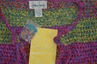 Joan Vass Heavy Knit Long Crochet Cardigan Jacket Women Size Plus 3X