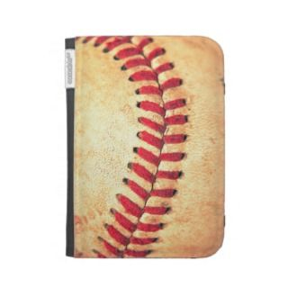 Vintage baseball ball kindle folio cases