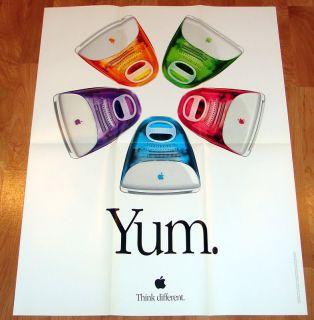 Apple Computer iMac Think Different Poster 1999 AUTHENTIC Steve Jobs