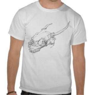 Spike  White tailed deer skull T Shirt