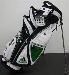 Adidas Strike AG 2012 Golf Stand Bag Wht Blk Grn Joe Walsh New