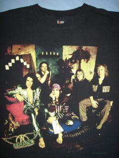 Lives Vintage 1990s Steven Tyler Joe Perry Concert T Shirt XL