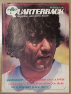 Joe Namath Jets 1972 Pro Quarterback Magazine No Label