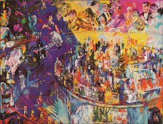 TOOTS SHOR BAR FRANK SINATRA JOE NAMATH LEROY NEIMAN PHOTO PRINT ART