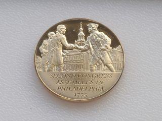 Assembles Bronze Medal Franklin Mint American Revolution C0535