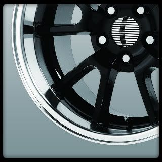17x9 17x10 5 Wheel Replicas V1149 FR500 Black Mustang Staggered Wheels