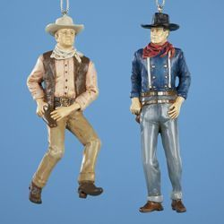John Wayne Christmas Ornament Set of 2 Western by Kurt s Adler