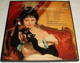 Johann Strauss Die Fledermaus 2 Record Album Box Set RCA Victor Red