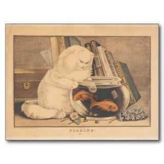 Cat Fishing by E.B. & E.C. Kellogg Post Card