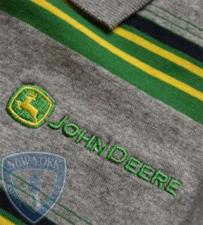 John Deere Polo Golf Shirt Embroidered Logo L