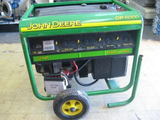John Deere DP6000 Watt 12hp Electric Start Generator