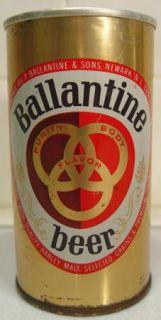 Ballantine Zip Tab Top Beer Can Newark NJ Pull Tab PA Tax Stamp