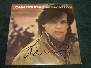 John Cougar Mellencamp American Fool Signed LP Proof