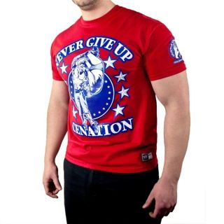 John Cena Red Persevere WWE Authentic T Shirt Official Licensed Brand