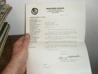 McDonald Signed Letter 1983 John Birch Society Chair Ron Paul