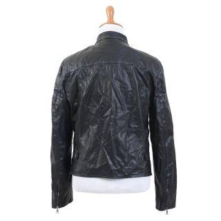 John Varvatos Black Full Zip 100 Lambskin Leather Jacket US L EU 52