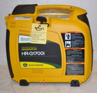 John Deere Portable 1700 Watt Generator HR G1700I