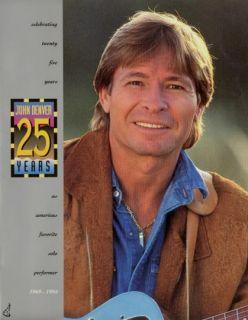 John Denver 1994 25 Years Tour Concert Program Book
