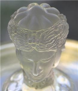 Antique EAPG Duncan 3 Three Face Graces Compote Flint Glass Figural