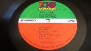 John Coltrane Blue Train Milt Jackson Bags Trane Records 2 LPS Blue Note Vinyl