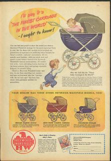 The finest carriage in the world Heywood Wakefield Baby Carriage ad 1947